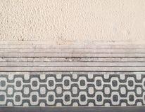 Известный тротуар мозаики в пляже Leblon, Рио-де-Жанейро стоковые фото