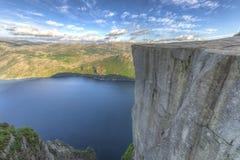 Известный утес амвона в Норвегии Стоковые Изображения