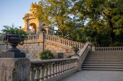 Известный фонтан в Барселоне Стоковое Изображение