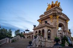 Известный фонтан в Барселоне Стоковая Фотография