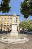 Известный фонтан du Roi Rene в en Провансали AIX Стоковое Изображение RF