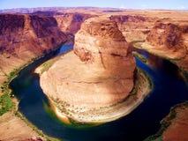 Известный Horseshoe загиб в Аризоне Стоковое Изображение RF