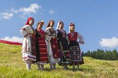 Известный rozhen фестиваль фольклора в Болгарии Стоковые Изображения RF