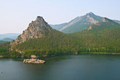 известняк озера острова borovoe Стоковое Изображение RF
