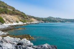 Известняк около моря Стоковая Фотография