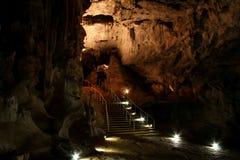 известняк cavern подземный стоковая фотография rf