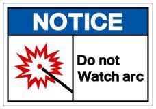 Извещение делает не знак символа дуги дозора, иллюстрацию вектора, изо иллюстрация штока