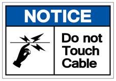 Извещение делает не знак символа кабеля касания, иллюстрацию вектора,  бесплатная иллюстрация