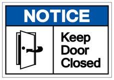 Извещение держит знак символа двери закрытый, иллюстрацию вектора, из иллюстрация вектора