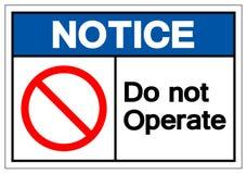Извещение не приводится в действие знак символа, иллюстрацию вектора,  бесплатная иллюстрация