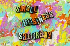 Извещение о субботы мелкого бизнеса стоковые изображения rf