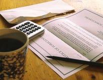 извещение о foreclosure Стоковое Фото
