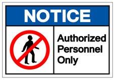 Извещение утвердило знак символа персонала только, иллюстрацию векто бесплатная иллюстрация