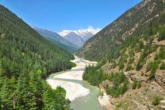 Извиваясь святое река Ganga Стоковые Изображения RF