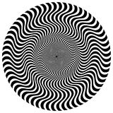 Извив, спиральная форма с кругами Вращая поставленный точки элемент r иллюстрация штока