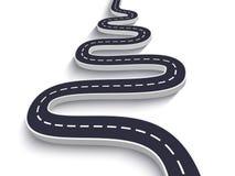Извилистая дорога на предпосылке изолированной белизной Шаблон положения пути дороги infographic 10 eps бесплатная иллюстрация