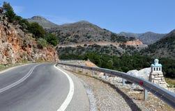 Извилистая дорога в Греции Стоковые Фотографии RF