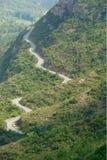 Извилистая дорога в стране Стоковые Фотографии RF