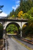 Извилистая дорога под мостом Стоковая Фотография RF
