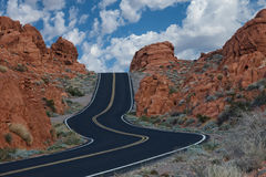 Извилистая дорога Стоковые Фотографии RF