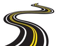 Извилистая дорога Стоковое Изображение
