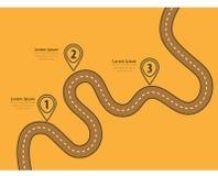 Извилистые дороги на красочной предпосылке Стоковое Изображение