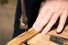Извлеките ноготь с парой плоскогубцев стоковое фото rf