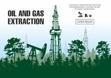 Извлечение нефти и газ иллюстрация вектора