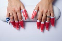 Извлекать покрытия ногтя Стоковые Изображения