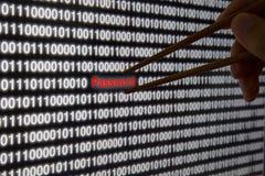 Извлечение пароля с палочками стоковое изображение