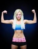 изгибать женщину мышц стоковое изображение