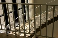 Изгибать лестницу Стоковое Фото