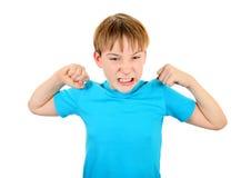 Изгибать мышцы ребенк стоковая фотография