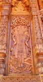 Изгибать работу в Temple-4 стоковое фото