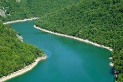 Изгибать реку Vrbas в лете Стоковое Изображение RF