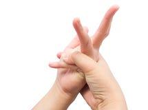 Изгибающ мышцу на пальце для излечите синдром офиса стоковое фото rf