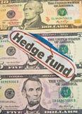 изгородь фондом кризиса банка Стоковое Изображение