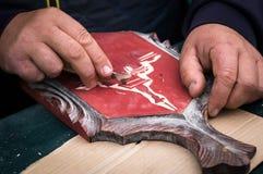 Изготовитель деревянных разделочных досок кухни корабль Стоковые Изображения RF