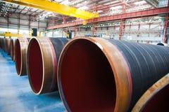 Изготовление стальных труб для подводного газопровода Стоковое Фото