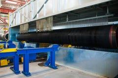 Изготовление стальных труб для подводного газопровода Стоковое фото RF