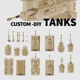 Изготовленные на заказ танки DIY иллюстрация штока