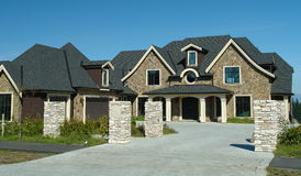 Новый роскошный дом Стоковое Изображение