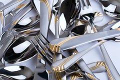 изделия ложки серии штепсельной вилки кухни изображений Стоковое фото RF