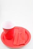 изделия обеда пластичные Стоковая Фотография RF