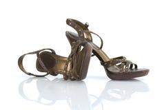 излечите высокие ботинки стоковое изображение rf