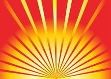 излучает заход солнца Стоковое фото RF