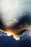 излучает небо Стоковое Фото