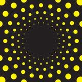 Излучать предпосылку точечного растра в черноте и желтом цвете иллюстрация штока