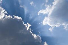 излучающее небо Стоковое Фото