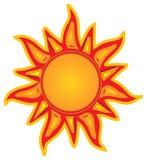 излучающее солнце Стоковая Фотография